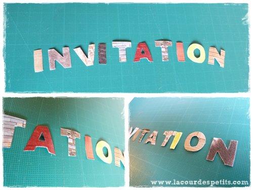 lettres invitations texture