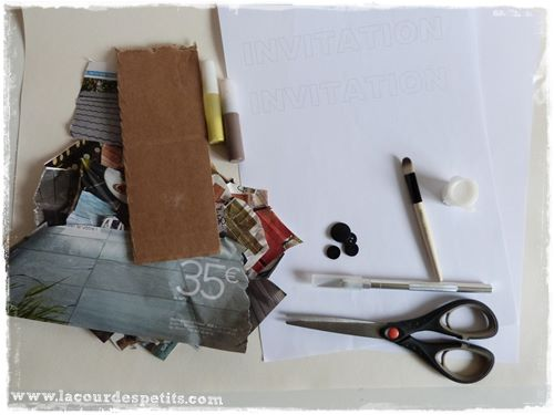 materiel invitation chantier diy