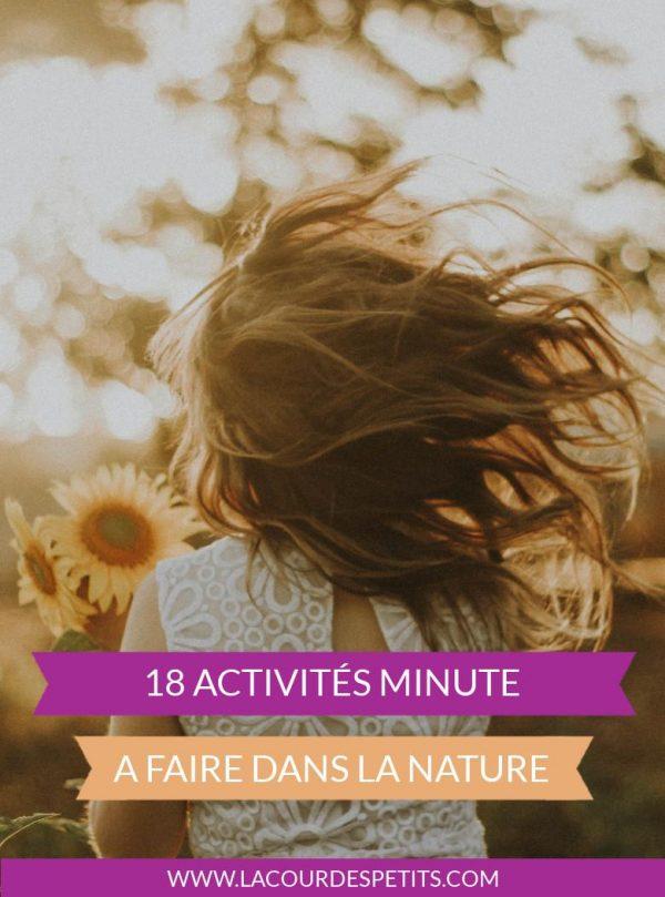 18 activités nature avec les enfants
