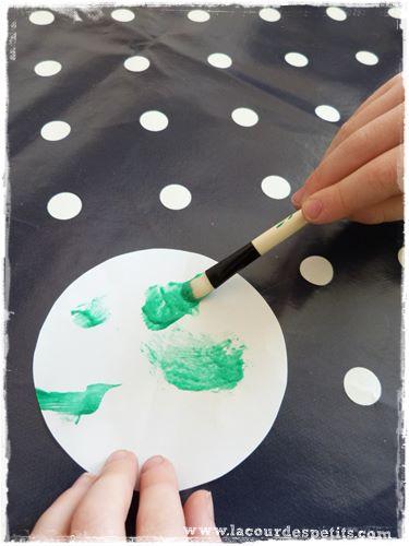 lune peinture gonflante