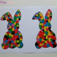 lapin gommettes