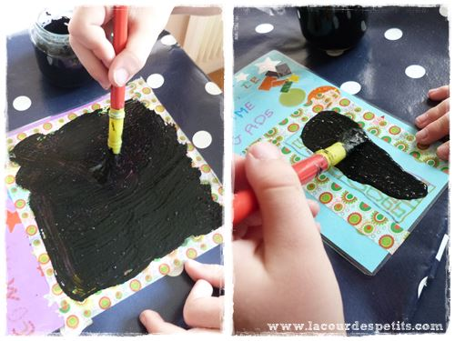carte a gratter peinture