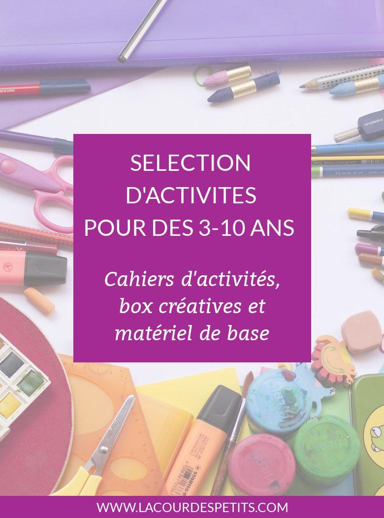 Pour mieux se repérer dans la jungle des box créatives, cahiers d'activités et matériel pour les activités manuelles