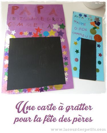 Tuto complet pour faire des carte à gratter maison avec un message secret pour la fête des pères.