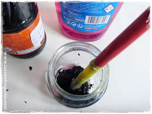 fabrication peinture a gratter