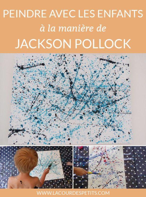 A tester avec les enfants : peindre comme Jackson Pollock. Un beau travail d'arts visuels qui leur a beaucoup plu.