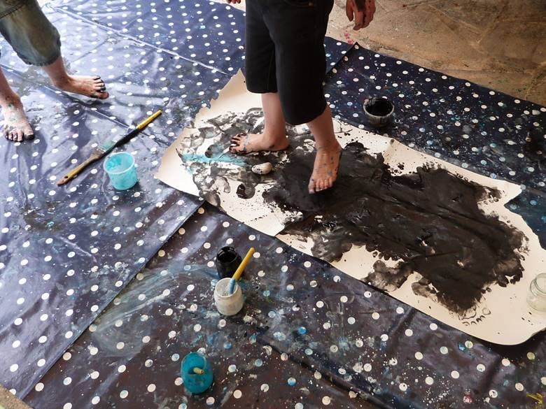 peinture pieds