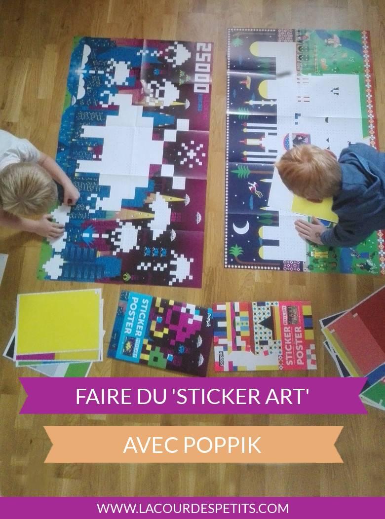 Une activité qui fait travailler la concentration et la motricité fine. Addictif et déco : le sticker art !