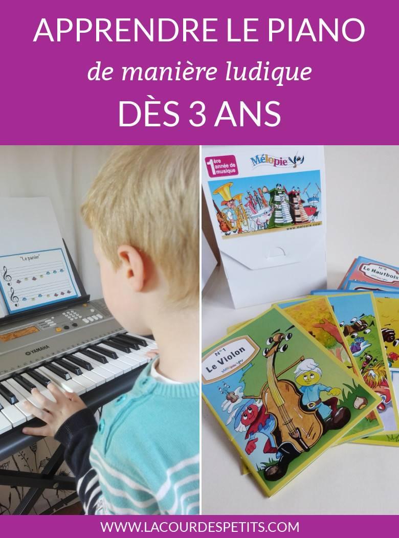Pour apprendre le piano à la maison, j'ai testé cette méthode très ludique. Mon fils a accroché et est très fier de pouvoir commencer à jouer quelques morceaux. #piano #musique #musicforkids #lacourdespetits