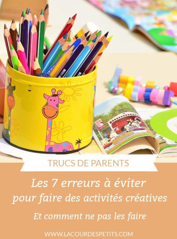 Faire des activités créatives avec les enfants est essentiel mais pas toujours évident. Découvrez les blocages que vous pouvez rencontrer et comment les surmonter, pour de chouettes moments créatifs en famille. #lacourdespetits #activitesmanuelles #creativite #parentalite
