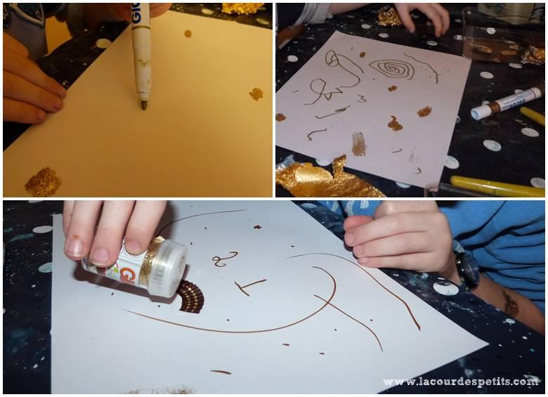 decorer papier paillettes