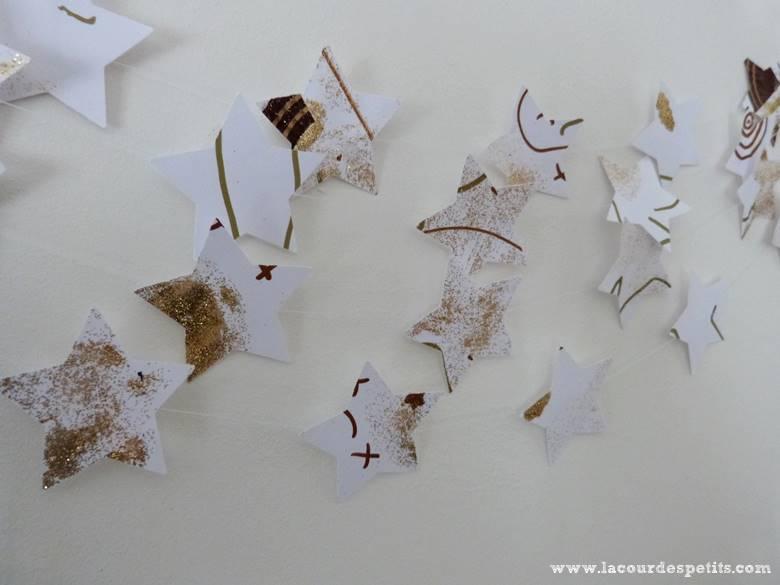 guirlande etoiles papier noel