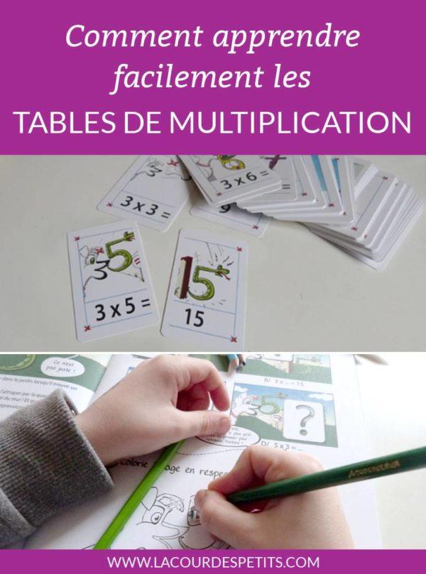 Apprendre les tables de multiplication facilement