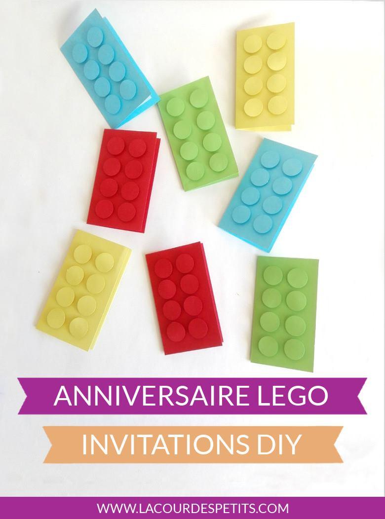 invitation anniversaire lego