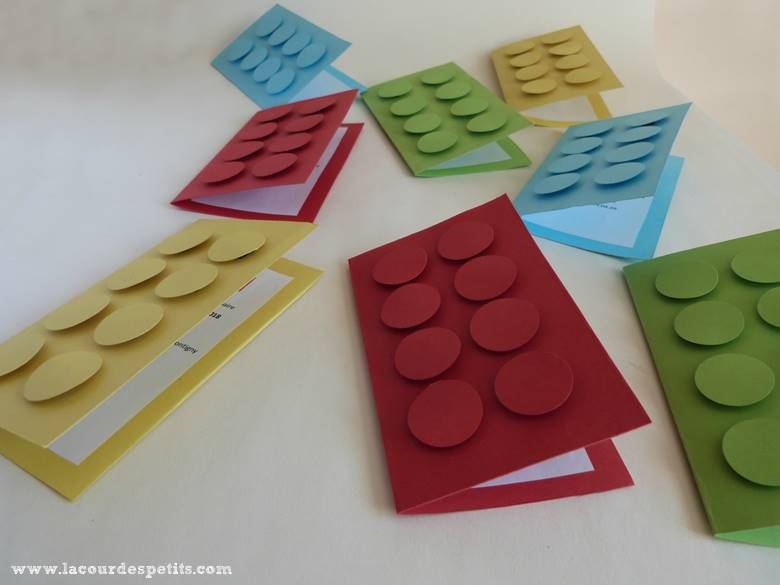 carton invitation lego