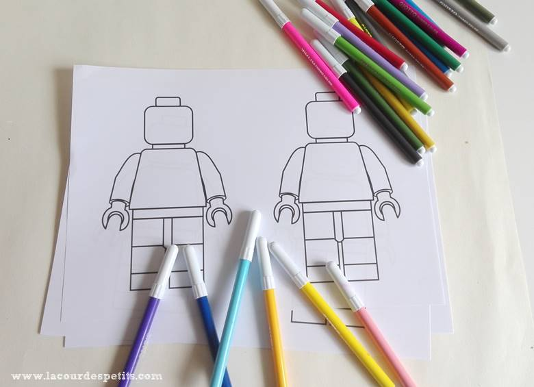 coloriage lego