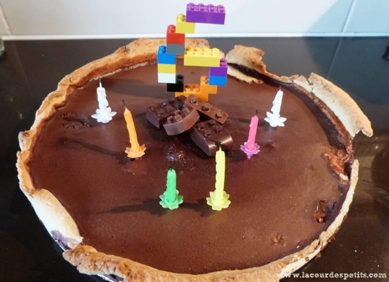 tarte chocolat lego
