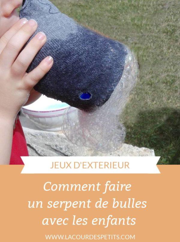Faire un serpent de bulles de savon (même pour les petits qui ne savent pas faire de bulles !)