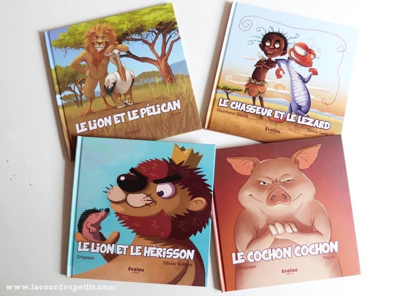 4 livres des éditions evalou