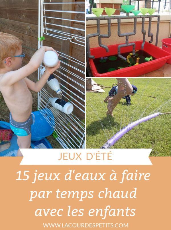 15 jeux d'eau à faire par temps chaud avec les enfants