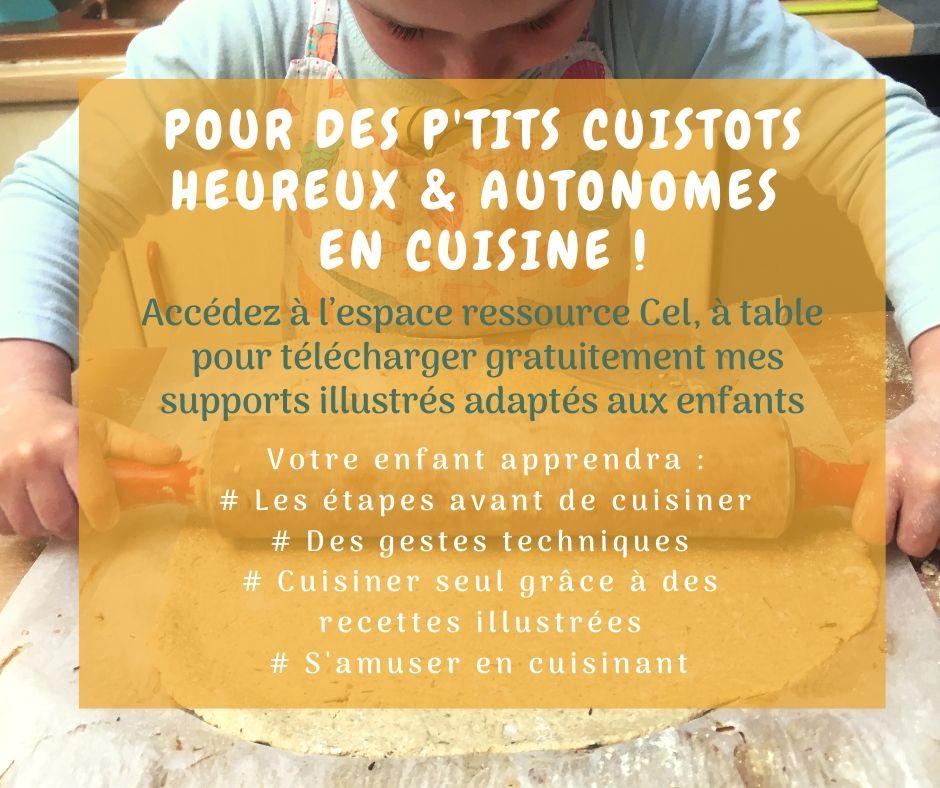 Encart cuisine avec les enfants