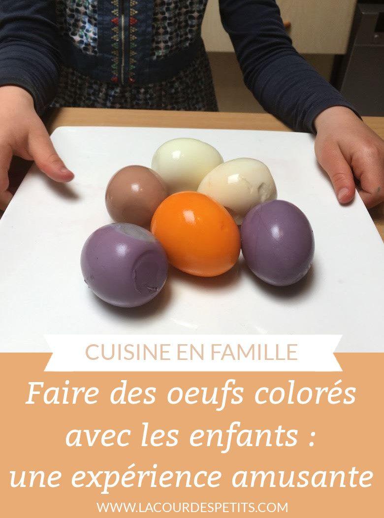 Faire des oeufs colorés avec les enfants