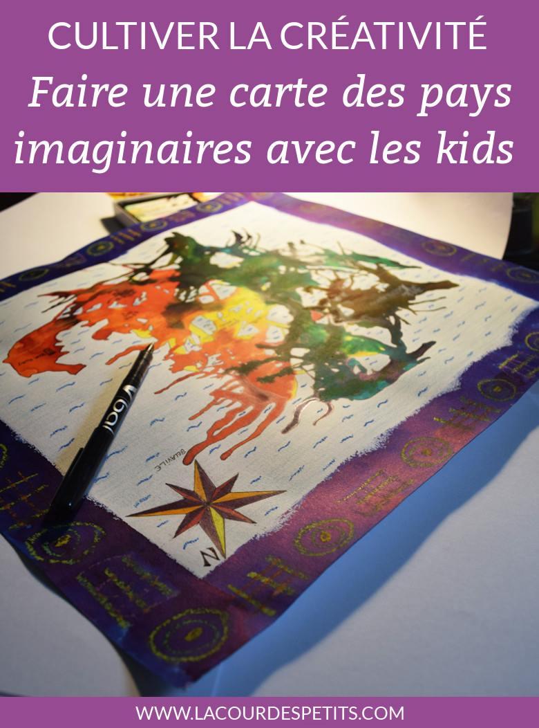 Faire une carte du pays imaginaire avec les enfants