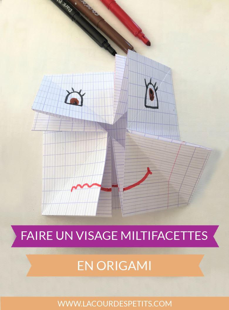Visage origami titre